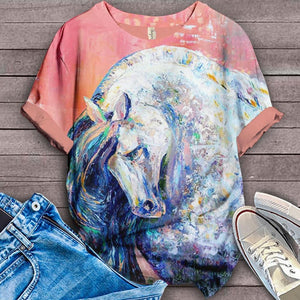 Horse Lovers Gorgeous Art T-Shirt 27