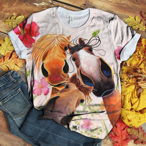 Horse Lovers Gorgeous Art T-Shirt 34