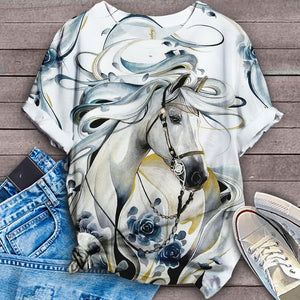 Horse Lovers Gorgeous Art T-Shirt 37
