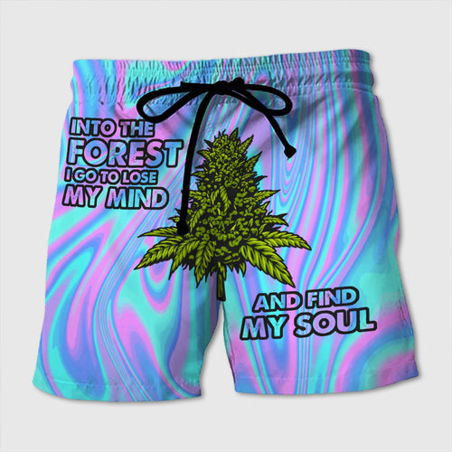 Into The Forest I Go To Lose My Mind And Find My Soul - Custom Beach Shorts - Swim Trunks
