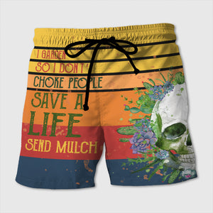 I Garden So I Don't Choke People - Custom Beach Shorts - Swim Trunks