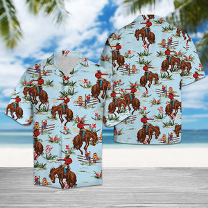 RIDING HORSE TROPICAL HAWAII SHIRT