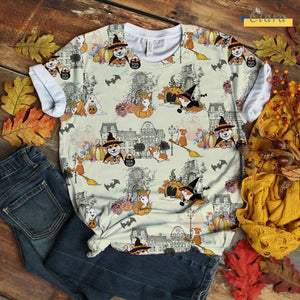 Corgi T-shirt Urban Halloween City Art