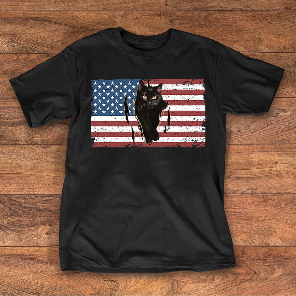 Cat Flag USA 4 of july