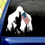 USA SOLDIER CAR STICKER