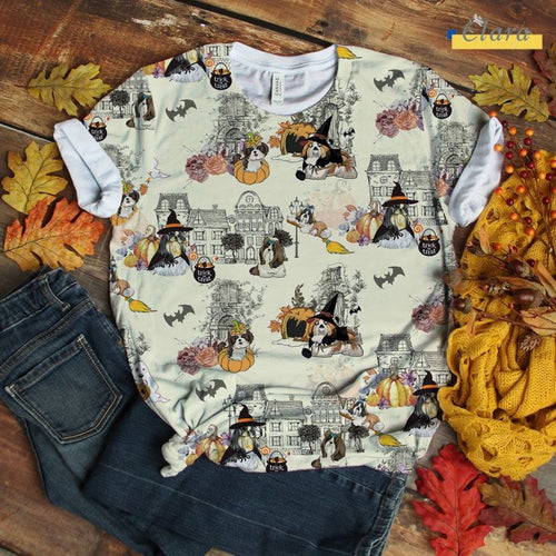 Shih Tzu T-shirt Urban Halloween City Art