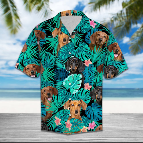 DACHSHUND TROPICAL HAWAII SHIRT!