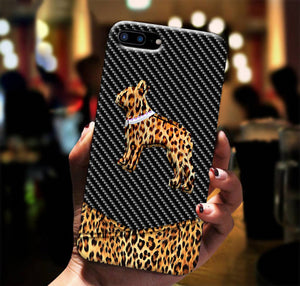 Boston Terrier Leopard Phone Case