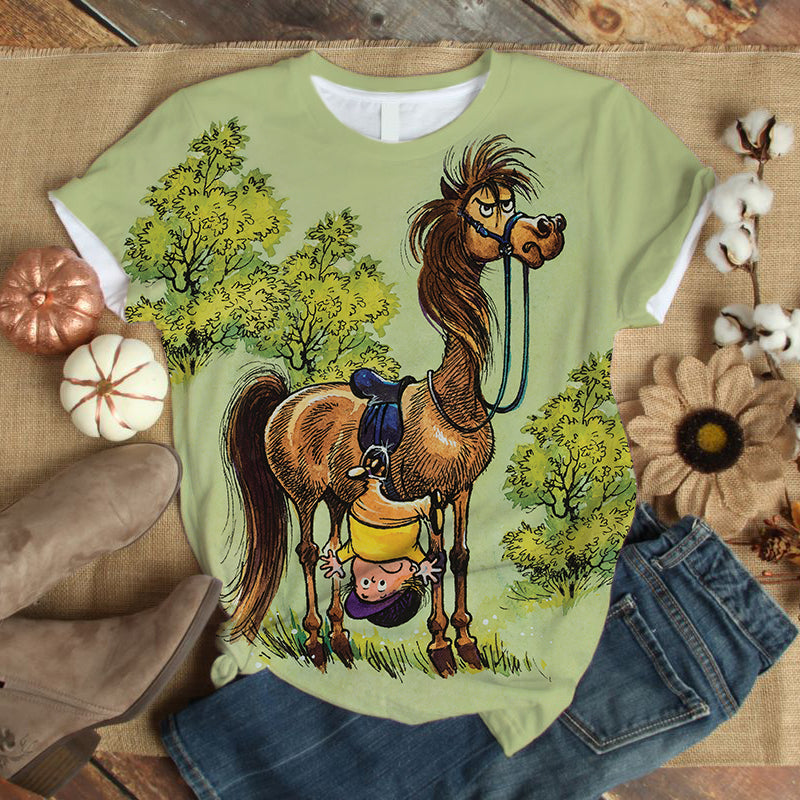 White Horse Lovers Gorgeous Art T-Shirt 4