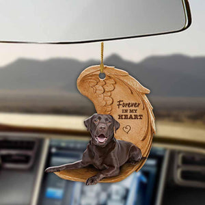 Chocolate Labrador retriever forever in my heart chocolate lab lover dog mom two sided ornament