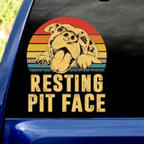 RESTING PIT FACE Car Sticker