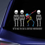 DABBING SKELETON -  AUTISM CAR STICKER