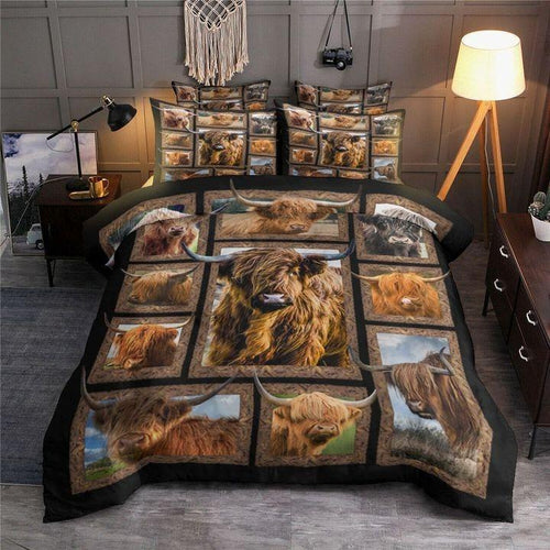 COW HIGHLAND BEDDING SET TJJ172008