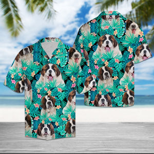 SAINT BERNARD TROPICAL HAWAII SHIRT