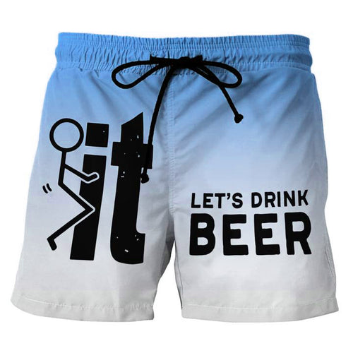 Let's Drink Beer Blue Beach Shorts