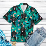 CURLY-COATED RETRIEVER TROPICAL HAWAII SHIRT