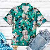 WEST HIGHLAND WHITE TERRIER TROPICAL HAWAII SHIRT
