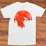 Frenchie Moon Red T-shirt