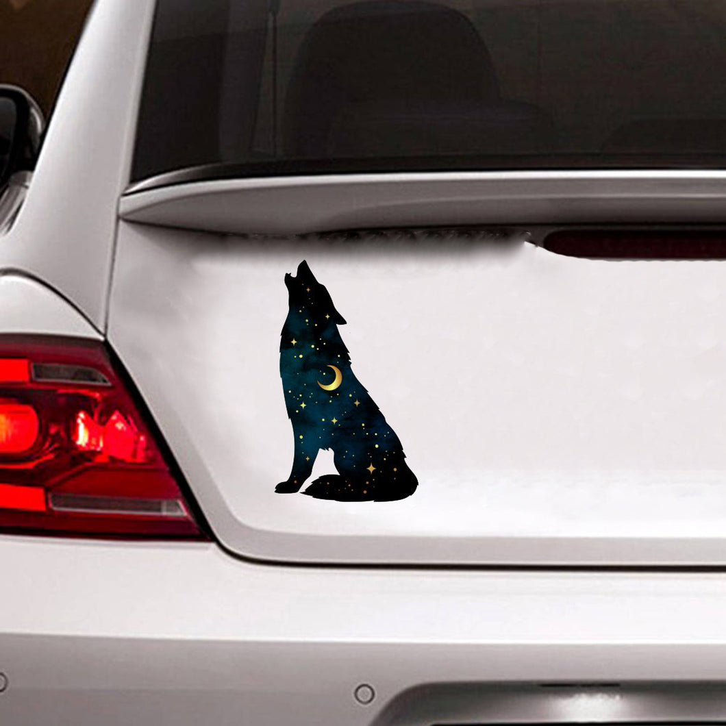 Starry Wolf Car Sticker