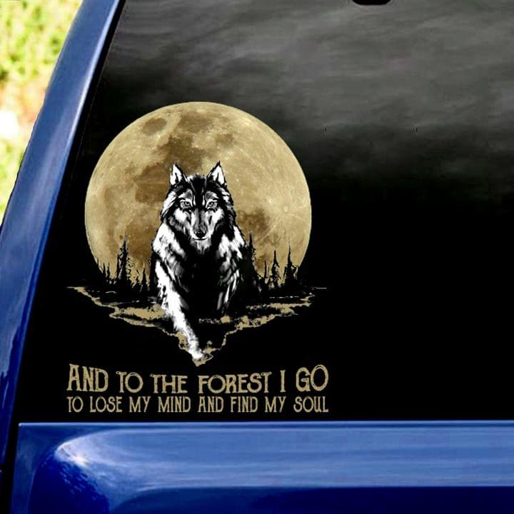 WOLD AND MOON CAR STICKER