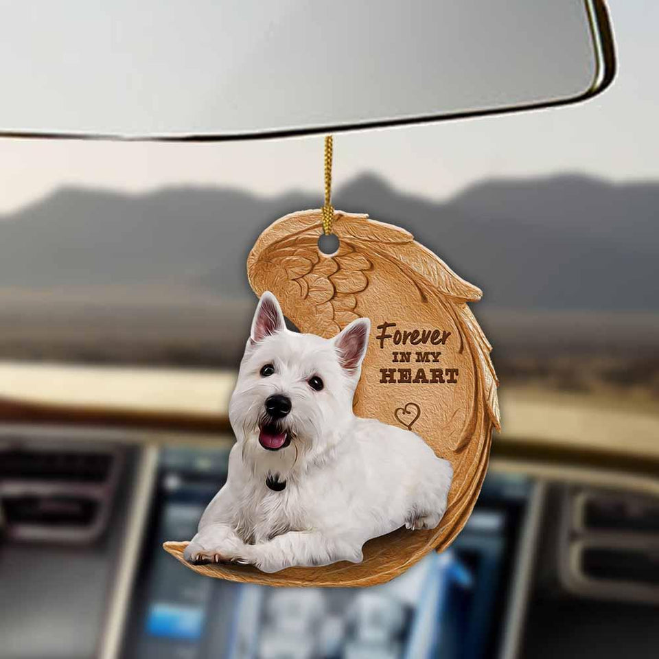 West Highland White Terrier forever in my heart westie lover dog mom two sided ornament