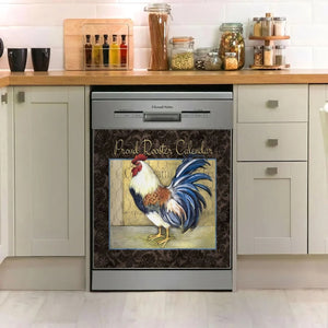 ROOSTER DECOR KITCHEN DISHWASHER COVER AZS008
