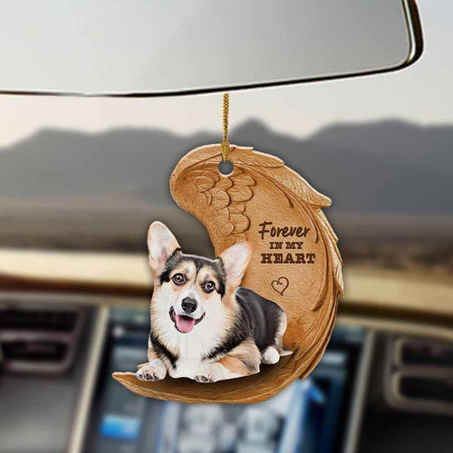 Tricolor corgi forever in my heart tricolor corgi lover dog mom two sided ornament