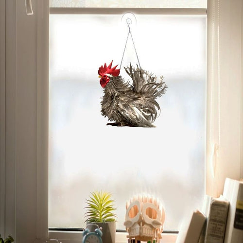 ROOSTER BEAUTIFUL WINDOW DECOR