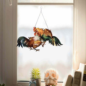 Rooster Chicken Window Decor Ornament 06