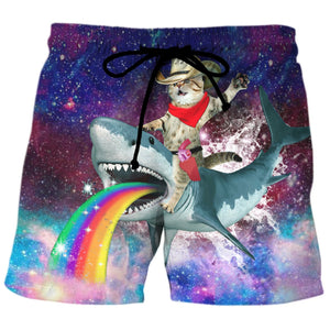 Funny Shark Lovers Beach Shorts 3