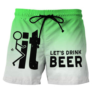 Let's Drink Beer Green Beach Shorts