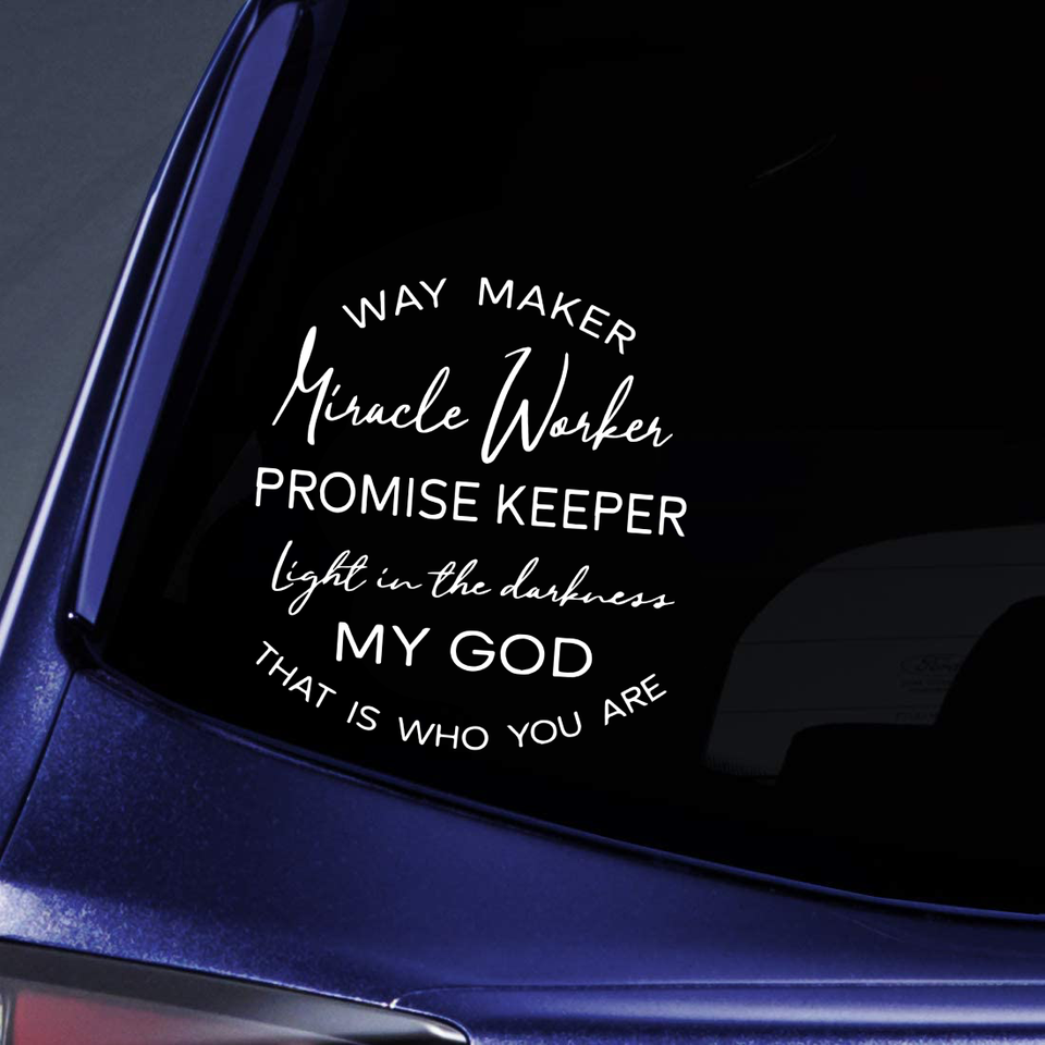 God Car Sticker