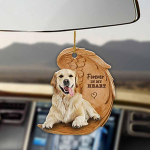 Golden Retriever Forever Love Ornament