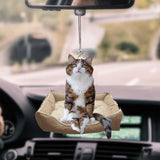 Cute Cat Sitting Car Hanging Ornament