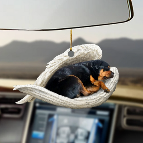 Rottweiler sleeping angel rottweiler lovers rottie lovers dog moms ornament