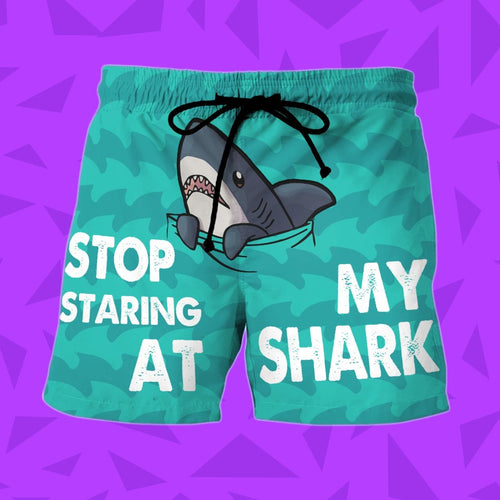 Funny Shark Lovers Beach Shorts 1