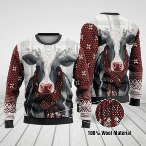2A DAIRY COW MERRY CHRISTMAS SWEATSHIRT 3D