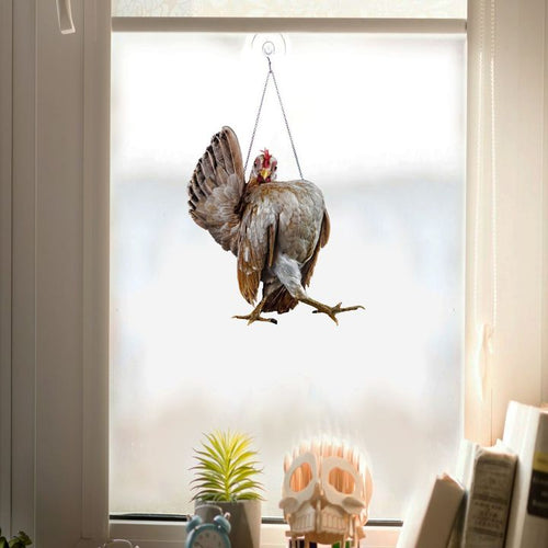 ROOSTER WALK  WINDOW DECOR