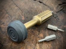 Load image into Gallery viewer, The Turas V2 EDC Bit Driver Aged Brass w/ Micarta Cap #260