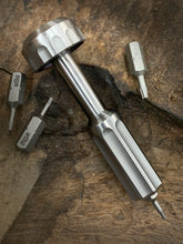 Load image into Gallery viewer, The Turas V2 EDC Bit Driver Raw Titanium #103