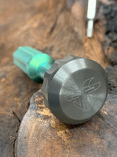 Load image into Gallery viewer, The Turas V2 EDC Bit Driver Hulk Green w/ Zirconium Cap
