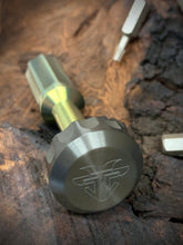 Load image into Gallery viewer, The Turas V2 EDC Bit Driver Gold w/ Zirconium Cap