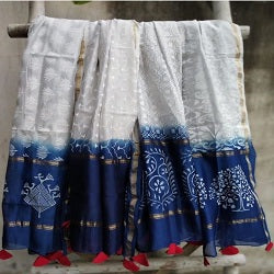 Beautiful Hand block printed cotton dupatta
