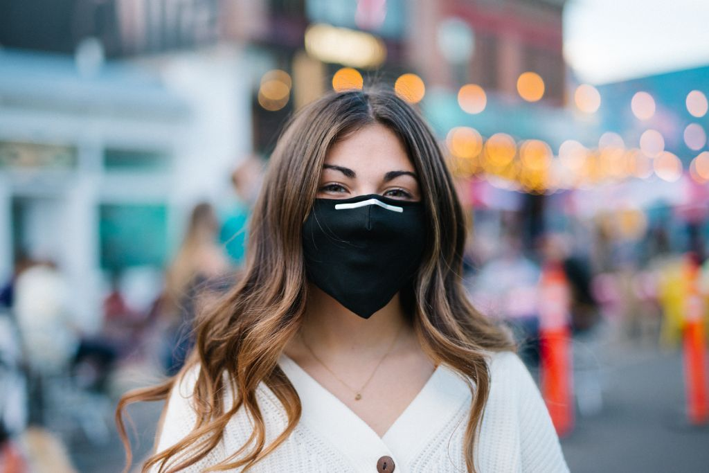 Jet Black Cotton Mask with Four PM 2.5 Carbon Filters