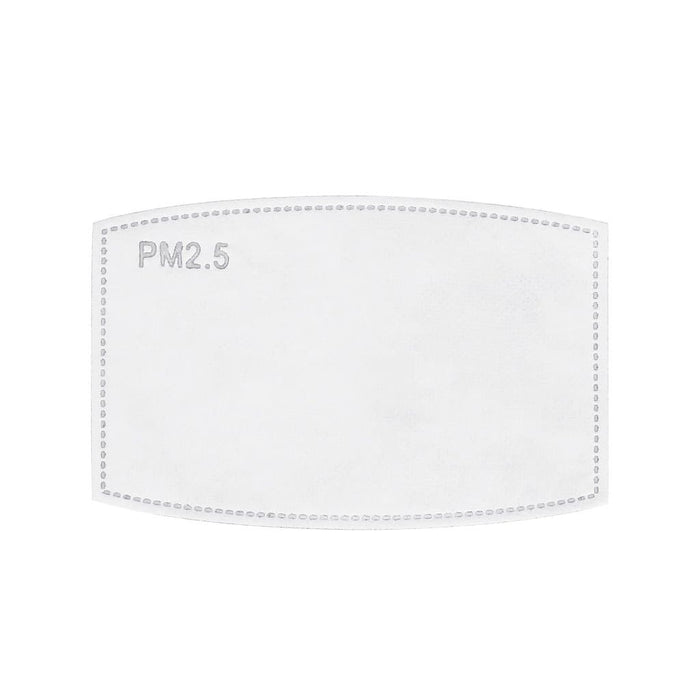 one pm 2.5 carbon-activated filter inserts for leopard face masks