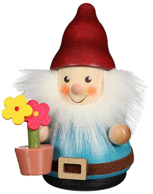 Christian Ulbricht Wooden Wobble Figure - Gnome with Flower Pot