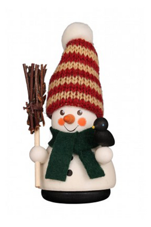 Christian Ulbricht Wooden Wobble Figure - Snowman with Broom