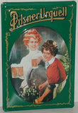 Pilsner Urquell Beer with Women - Vintage Style Metal Advertising Sign