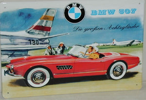 BMW 507 Airport - Vintage Style Metal Advertising Sign