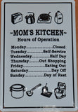 Mom's Kitchen- Decorative Metal Sign